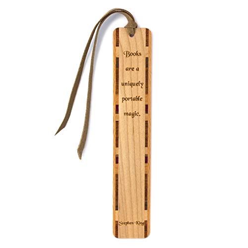 Stephen King Quote Engraved Wooden Bookmark with Suede Tassel - Search B071NGWF1H for Personalized Version
