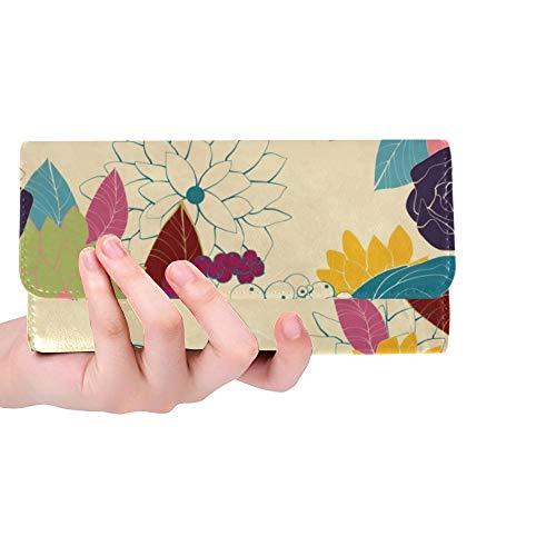 Einzigartige benutzerdefinierte Hochzeit Karte Einladung abstrakte Blumen Frauen Trifold Wallet Lange Geldbörse Kreditkarteninhaber Fall Handtasche