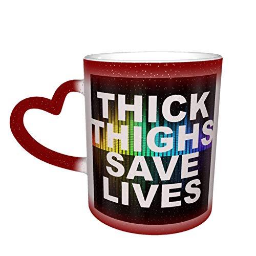 Rote dicke Oberschenkel retten Leben Starke hitzeempfindliche Kaffeezauberbecher Farbe Niedlicher Kaffeetee Einzigartige wechselnde Wär