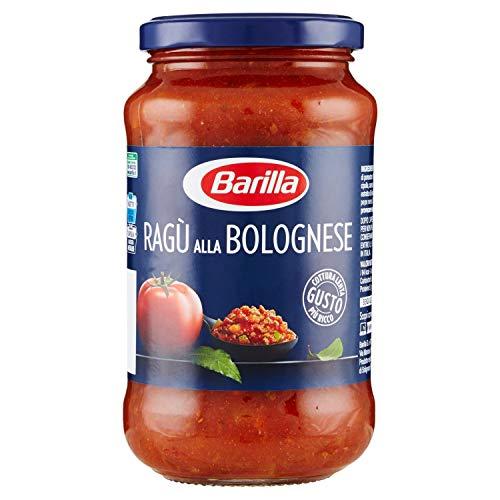 Barilla Sugo Ragù alla Bolognese, Salsa Pronta al Pomodoro Italiano e Carne Selezionata - Senza Glutine - 400 g