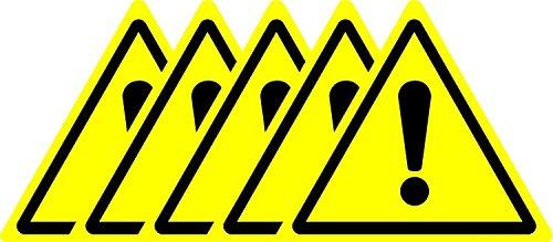 Sécurité ISO Sign–Hazard Warning International Symbole–Autocollant 50mm x 50mm (lot de 5stickers)