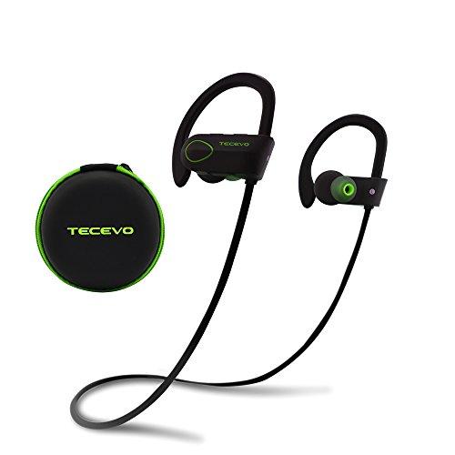 TECEVO S4 Sports Cuffie Bluetooth, Wirezoll Auricolare Sportivi Wireless Stereo per iPhone, Android Smartphone, Tablet, MP3, ecc. [ Bluetooth 4.1, IPx4 Resistente all'Acqua