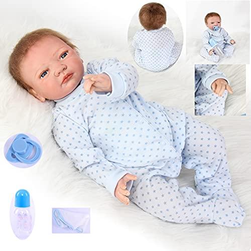 ZIYIUI Realistic Reborn Muñeca Bebé Niña 20 Pulgadas (50 cm) Vinilo Silicona Suave Reborn Dolls Toys Recién Nacido Hecho a Mano Bebé Niño Juguete
