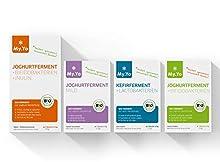 Bio-Joghurtfermente, Set mit 4-Packungen