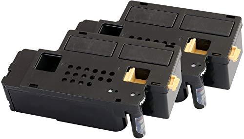 TONER EXPERTE 593-11130 Pack of 2 Black Toner Cartridges compatible for Dell C1660w (1250 Pages)