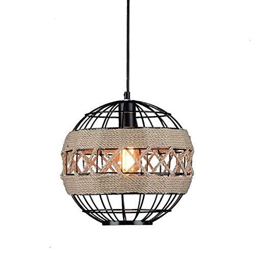 MJK Lámpara de araña decorativa, lámpara de araña de cuerda, nostálgica, retro, estilo industrial, restaurante, ropa, personalidad creativa, lámpara de araña 602, bonita decoración para casa