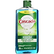 Cascade Rinse Aid, Dishwasher Rinse Agent, Original Scent, 16 Fl Oz