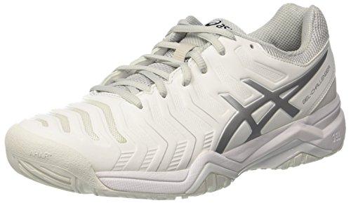 Asics Gel-Challenger 11, Chaussures de Tennis Homme, Blanc Cassé (White/silver), 41.5 EU