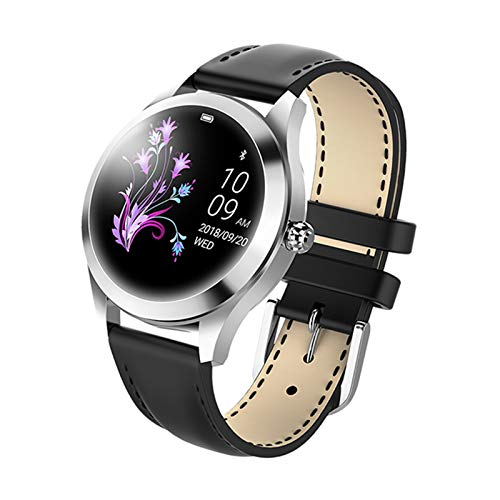 Gulu Kw10 Moda Reloj Inteligente Mujeres Encantadora Pulsera Ritmo Cardíaco Monitor De Sueño Monitoreo Smartwatch Connect iOS Android PK Band,C