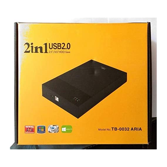 """TERABYTE 2in1 USB 2.0 External Hard Drive Casing for 2.5"""" & 3.5"""" Sata Hard Drives Dual 2.5 inch and 3.5 inch HDD Enclosure"""