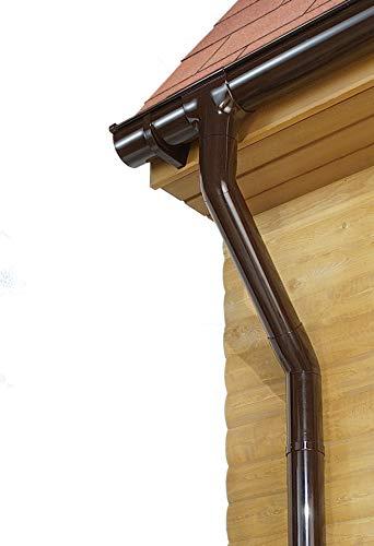 Marley Dachrinnen Set Kastenrinne Rg 70 für eine Dachseite bis 6m braun mit Fallrohr Dachrinne Rinnensatz Regenrinne