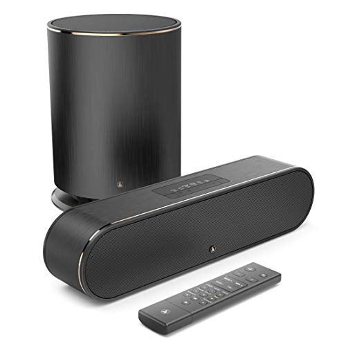 Hama TV Soundbar + Subwoofer mit Dolby 2.1 Sound (Amazon Music/Spotify Connect, Bluetooth/USB/WLAN, Lautsprecher für TV/ PC/Gaming, Amazon Alexa kompatibel) schwarz