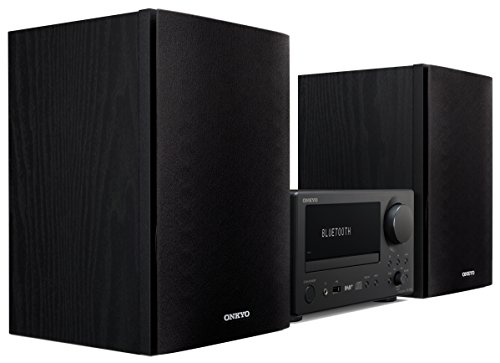 Onkyo CS-375D(BB) CD Hifi System (Kompaktanlage, CD Player, 2 x 20 W Ausgangsleistung, Lautsprecher, WLAN, Bluetooth, Streaming, Radio/DAB+, Front USB/Audio in, JOG-Wähler), Schwarz
