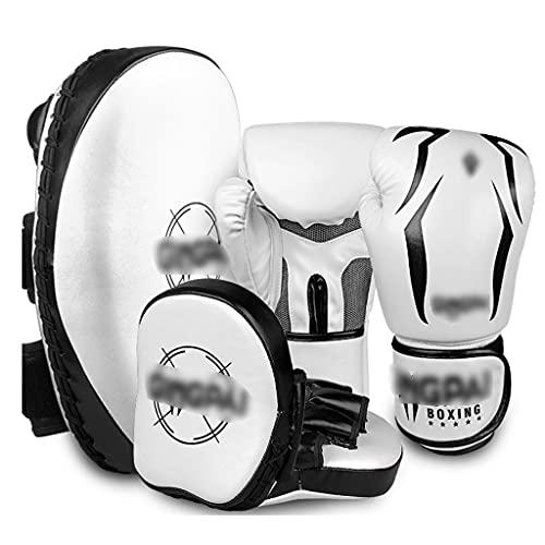 Boxing gloves Guantes de Boxeo Blanco de Mano de Entrenamiento para niños y Adultos Guantes de Saco de Arena Sanshou Foot Target Juego de Guantes de Boxeo Muay Thai
