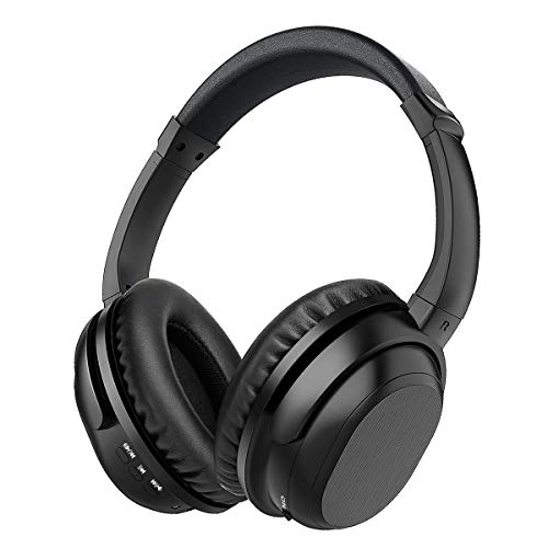 Noise Cancelling Headphones, KKUYI Bluetooth Headphones Over Ear, Wireless Headphones with Mic, Rechargeable HiFi Stereo Headset with Wired Mode, 20 Hrs Playtime for Online Class Home Work PC