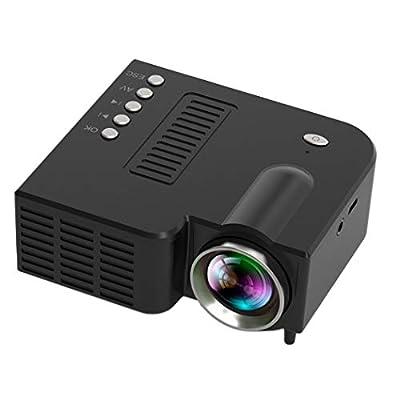 Benlet Mini Portable LED Projector 1080P Multimedia Home Cinema Theater Video Projectors (BlackUSB)