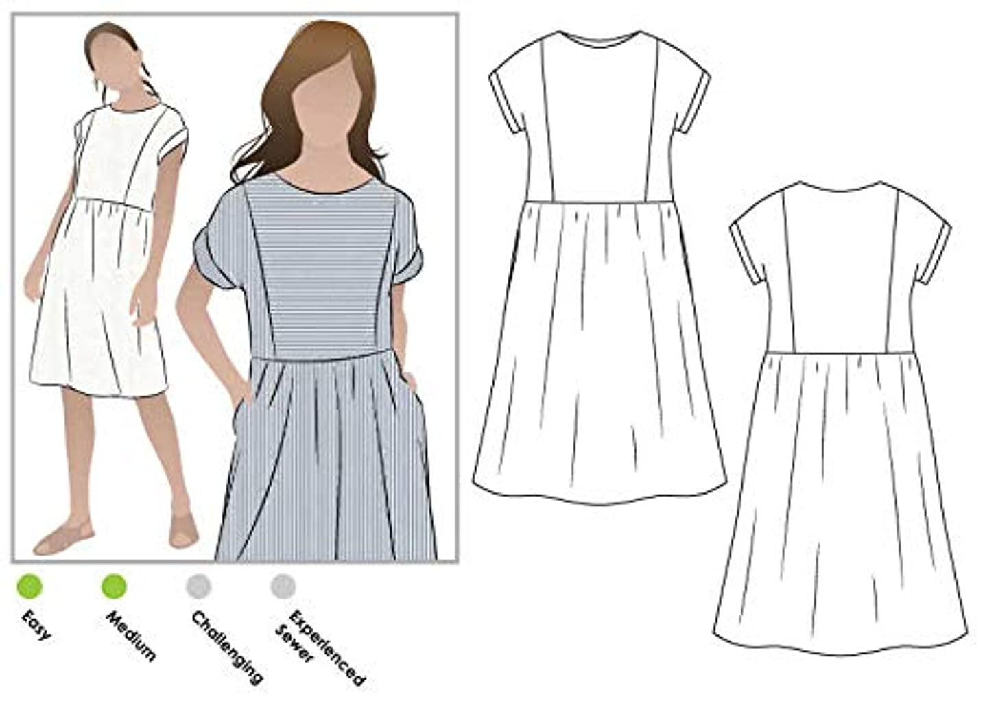 Style Arc Sewing Pattern - Lacey Dress (Sizes 04-16) - Click for Other Sizes Available