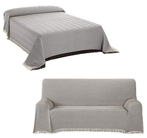 Staboos Tagesdecke - Hochwertiger Bettüberwurf in Braun, 230 x 260 cm Praktischer Überwurf als Sofadecke oder Couchdecke - Bed Throw Blanket - Weiche Wohnzimmer Decke aus Baumwolle