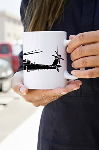 KillerBeeMoto: 11 Oz Coffee Mug Boeing AH-64 Apache Attack Helicopter Coffee Mug