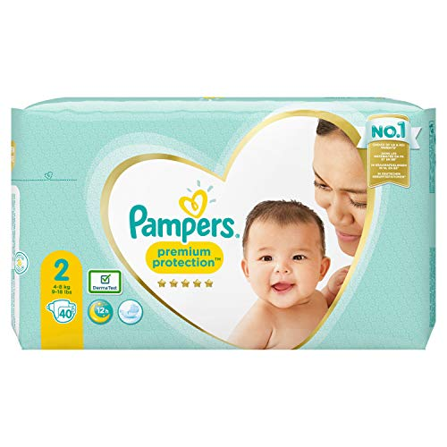 Pampers Premium Protection Größe 2, 40 Windeln, 4kg-8kg