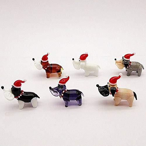 HUANSUN Símbolo de año Nuevo Figuras de ratón de Cristal Hechas a Mano Adorno navideño Decoración del hogar Animales en Miniatura Lindos Estatua de Rata de Cristal, Marrón Oscuro