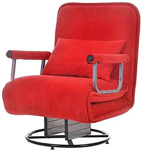 N&O Renovation House Klappsessel Schlafsofa Büro Ruhebett Lazy Couch 3 In 1 Multifunktions Home Office Arbeitszimmer Einzel Mittagspause Atmungsaktiver Sitz Liegebett (Größe : Beige a)