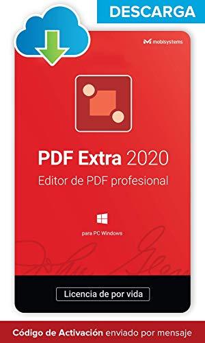 PDF Extra 2020 - DESCARGA / Licencia Online - Editor Profesional de PDF - Edita, Protege, Anota, Completa y Firma archivos PDF - 1 PC / 1 Usuario / Suscripción de Por Vida
