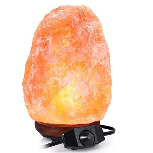 SUNNEST Lampada di Sale dell'Himalaya 2-3 kg, Cristallo rosa naturale
