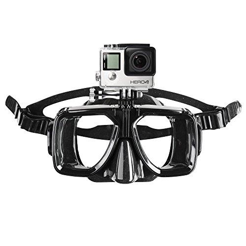 Mantona, maschera da snorkeling con fissaggio per GoPro