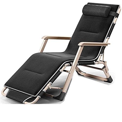Tumbona, silla ajustable con gravedad cero para el hogar, exterior, negro, 2 WHY666