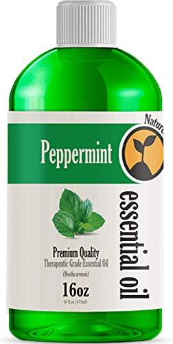16oz - Bulk Size Peppermint Essential Oil (16 Ounce Total) -