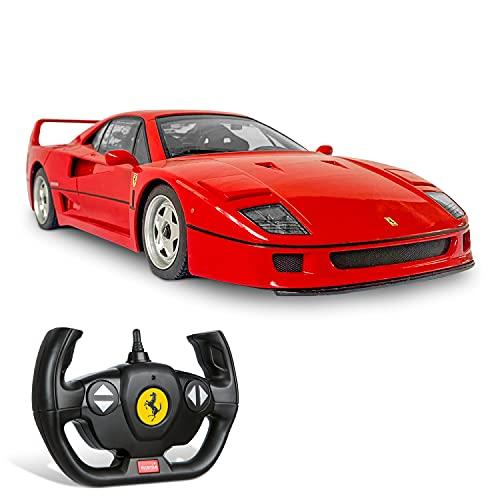 Mondo Motors, FERRARI F40, Modello in Scala 1: 14, fino a 10 km/h di Velocità, Auto Giocattolo per Bambini 63547