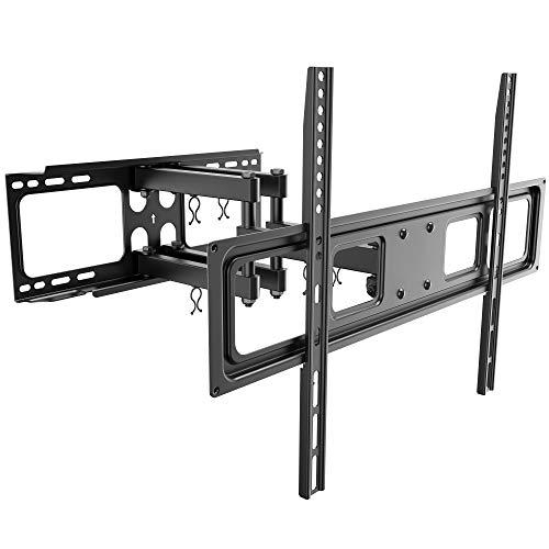 RICOO S5264 TV Wandhalterung Schwenkbar Neigbar Universal 37-70 Zoll (ca. 94-178cm) TV-Halterung für Curved LCD LED Fernseher VESA 300x200-600x400