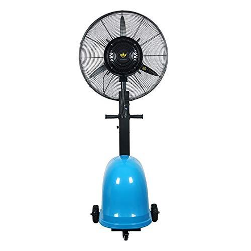 """PIGE 260W 26""""Ventilateur De Refroidissement De Refroidissement Et Ventilateur De Plancher Industriel Hydratant Ventilateur Électrique Commercial Puissant Et Puissant (Couleur : Bleu)"""
