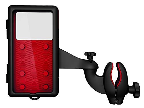 BuggySAFE Mount Premium Edition Red, Kinderwagen Sicherheitslicht, Buggy Beleuchtung 28 cm mit Smart Case und Reflektorband