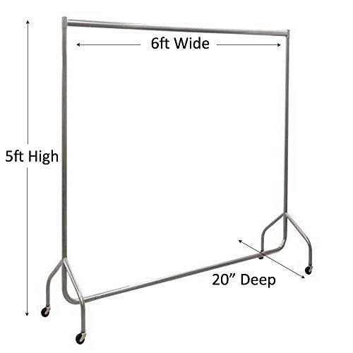 The Shopfitting Shop Resistente Perchero Gris de 180 cm de Largo x 150 cm de Alto. Tubo de Acero. Perchero de 32mm para Guardar Prendas.