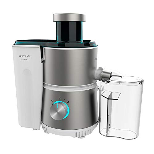 Cecotec Licuadora Orbital Juice&Fresh 400 Titan White. 400 W, 20000 RPM de Velocidad, Tamaño Compacto, 2 Velocidades, Disco con Recubrimiento de Titanio Negro, Sistema antigoteo, Jarra 350 ml