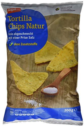 tegut... Tortilla Chips, Natur, 1 x 200 g