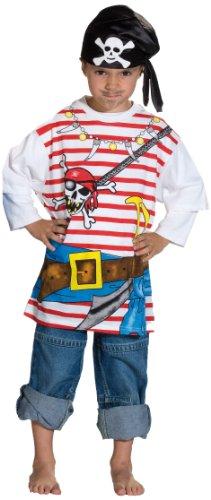 Rubie's 1 2204 116 - Spieleshirt Pirat Kostüm, Größe 116