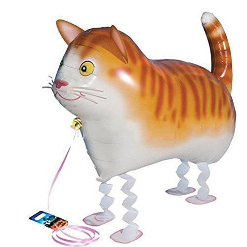 TOYMYTOY 5 Stück Walking Animal Luftballons, Katze Air Walkers Ballons Party Supplies Dekorationen Geschenk für Kinder