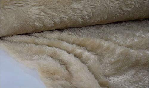 FABRICS-CITY CAMEL SOFTIG ZOTTY TEDDYFELL KURZHAARIG STOFF STOFFE, 4107
