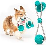 TBSDQLTEV Juguetes de Cuerdas interactivos multifunción, Juguete de Goma para Masticar de Juguete con Ventosa, Herramienta de Limpieza de Dientes para Perros Gatos
