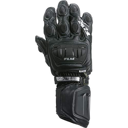 FLM Motorradhandschuhe lang Motorrad Handschuh Sports Lederhandschuh 8.0 schwarz 10, Herren, Sportler, Sommer, Leder/Textil