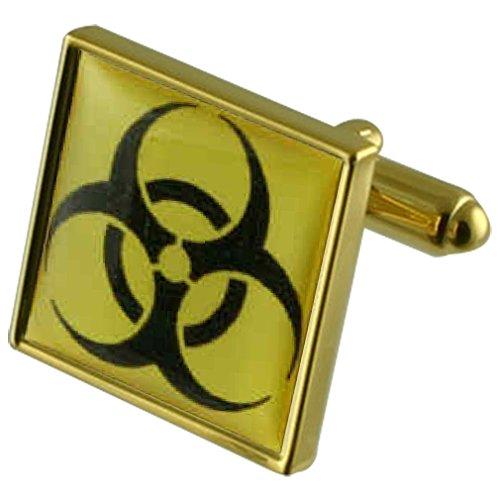 Select Gifts química Biohazard Gemelos oro grabados