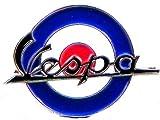 Metal Esmalte Pin Broche para patinete MOD RAF ROUNDEL–Vespa