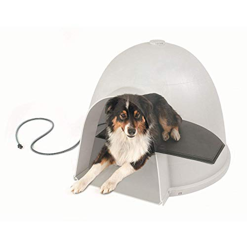 K&H Pet Products Lectro-Kennel Igloo Style Outdoor Heated Pad Black