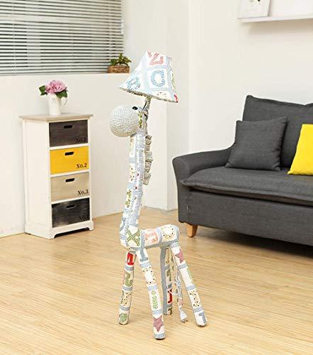 QTWW Stehleuchte Kinderzimmer Cartoon Letter Giraffe Stehlampe Schlafzimmer Moderne minimalistische Nachttischlampe Kreatives Wohnzimmer Studie Dekoration Vertikale Tischlampe