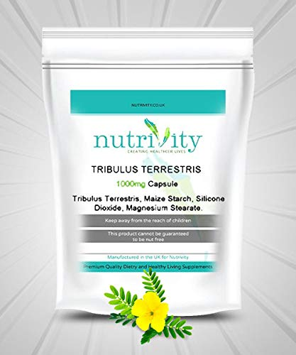 Tribulus Terrestris 1000mg Capsules Max Strength by Nutrivity (240)
