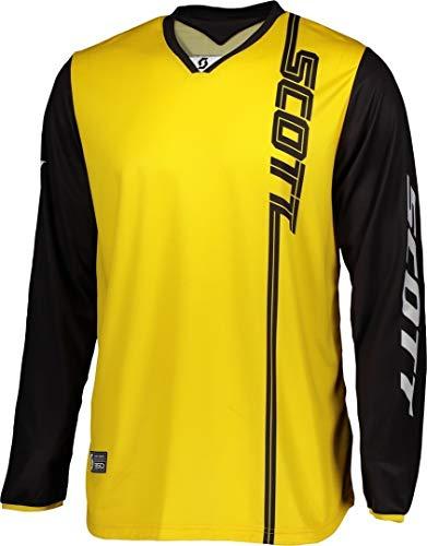 Scott 350 Swap MX 2020 - Camiseta de ciclismo para motocross, color negro, color negro y amarillo, tamaño M (48/50)