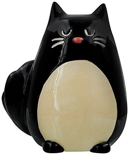 Grindstore Tirelire Chat Noir, Mixte, Hauteur 13 cm, Largeur 12 cm, Profondeur 10 cm, Fente 3 cm
